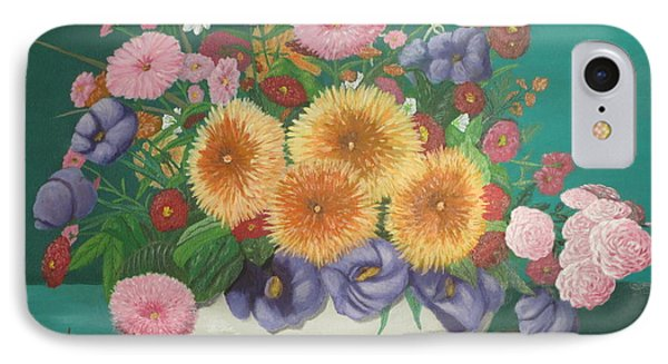 IPhone Case featuring the painting Floral Study by Hilda and Jose Garrancho