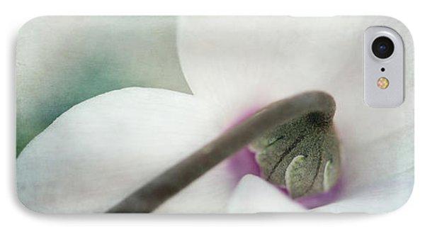 Floral Whites Phone Case by Priska Wettstein