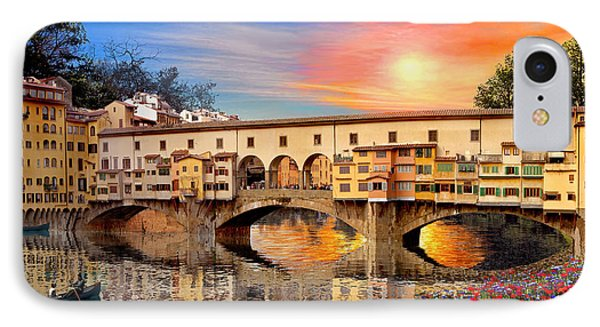 Florence Bridge IPhone Case by Dominic Davison