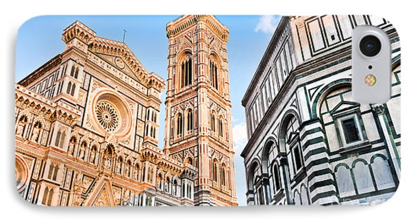 Florence Cathedral At Sunset IPhone Case by JR Photography