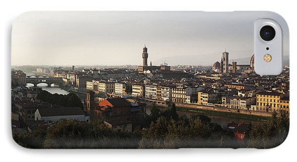 IPhone Case featuring the photograph Florence Form The Piazza Michalengelo by Belinda Greb