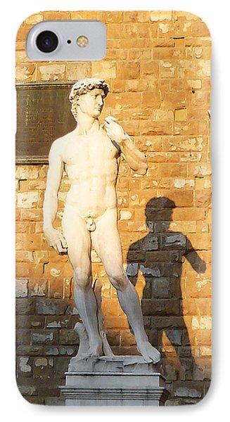 Florence Italy Michelangelo David Replica Phone Case by Irina Sztukowski
