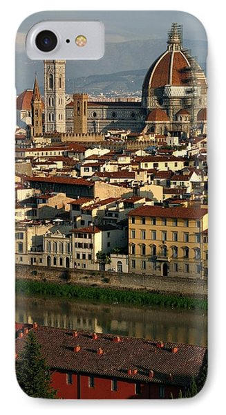 IPhone Case featuring the photograph Florence Morning by Henry Kowalski
