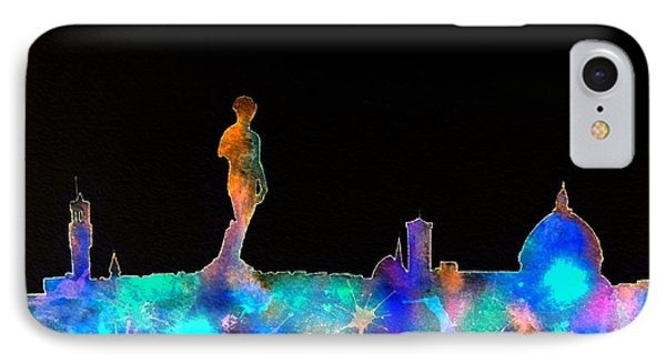 Florence Skyline - Nighttime 1 IPhone Case by Bill Holkham