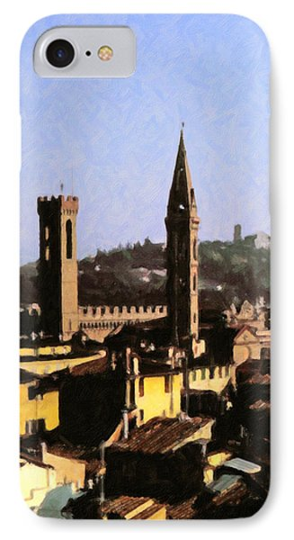 IPhone Case featuring the digital art Florence Towers by Spyder Webb