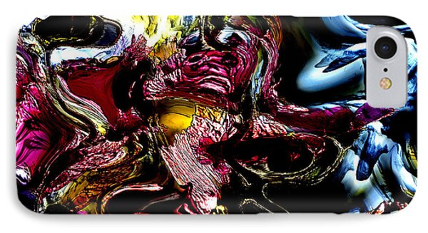 IPhone Case featuring the digital art Flores' Darker More Uncomfortable Twin by Richard Thomas