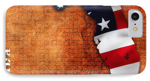 Florida American Flag State Map IPhone Case