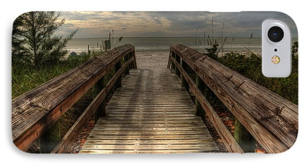IPhone Case featuring the pyrography Florida Beach Entrance With A Beautiful Sky by Julis Simo