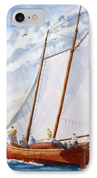Florida Catboat At Sea IPhone Case by Roger Rockefeller