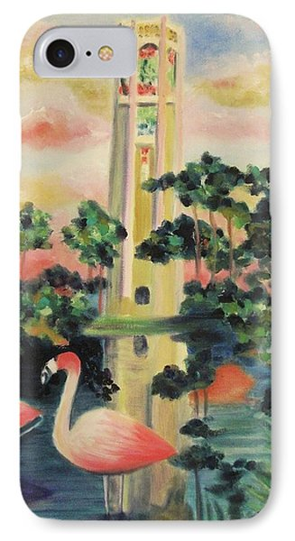 Florida Flamingo's IPhone Case by Suzanne  Marie Leclair