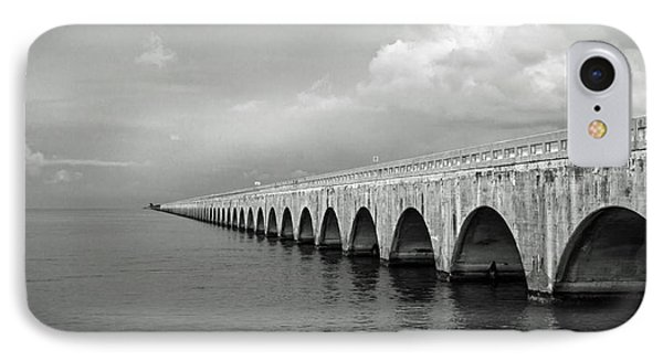 Florida Keys Seven Mile Bridge Black And White IPhone Case