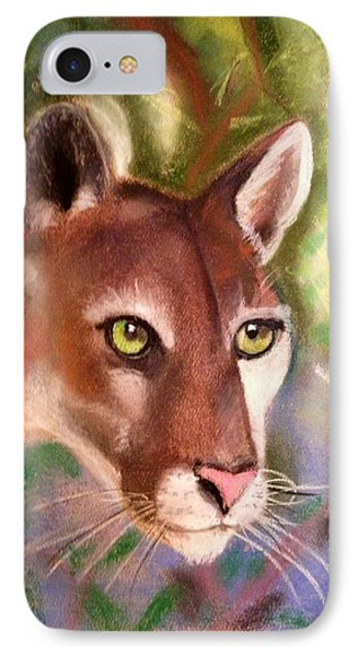 Florida Panther IPhone Case by Renee Michelle Wenker