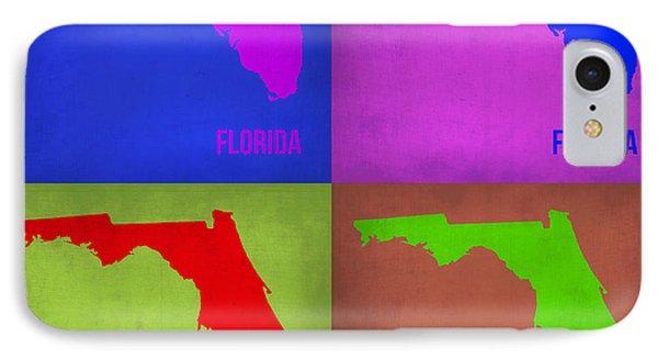Florida Pop Art Map 1 IPhone Case by Naxart Studio