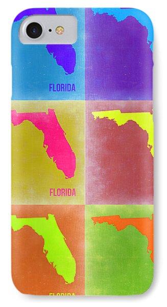 Florida Pop Art Map 2 IPhone Case by Naxart Studio