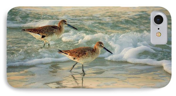 Florida Sandpiper Dawn IPhone Case by Henry Kowalski