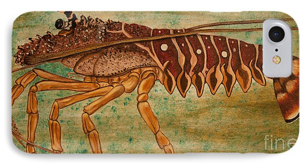 Florida Spiny Lobster Phone Case by Susan Cliett