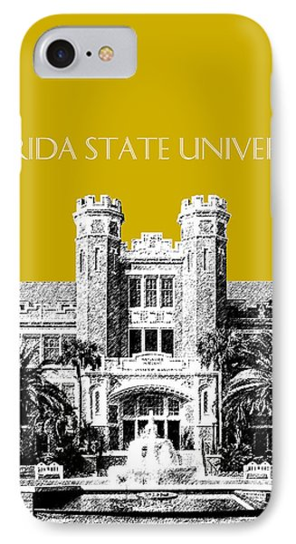 Florida State University - Gold IPhone Case by DB Artist