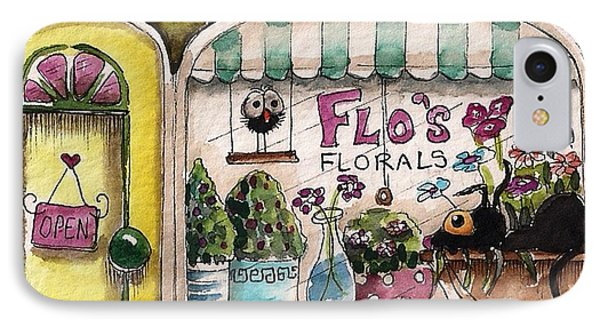 Flo's Flowers Phone Case by Lucia Stewart