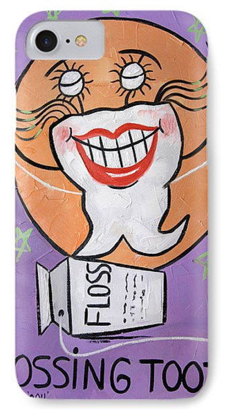Flossing Tooth Phone Case by Anthony Falbo
