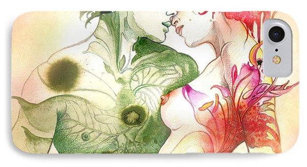 Flower And Leaf IPhone Case by Anna Ewa Miarczynska