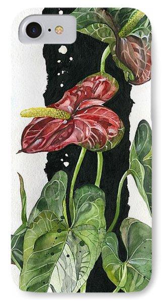 Flower Anthurium 01 Elena Yakubovich Phone Case by Elena Yakubovich