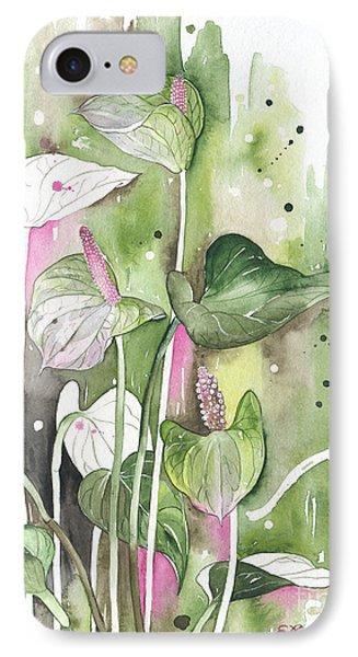 Flower Anthurium 04 Elena Yakubovich IPhone Case by Elena Yakubovich