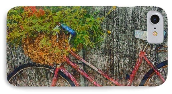 Flower Basket On A Bike Phone Case by Mark Kiver