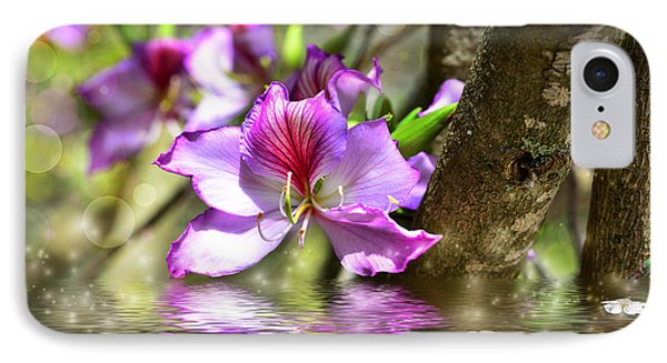 Flower Bauhinia And Simulation Of Water IPhone Case