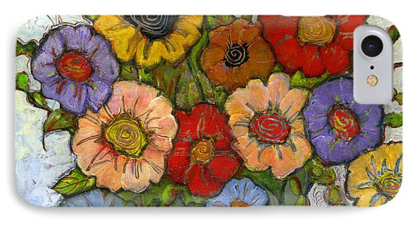 Flower Bouquet IPhone Case by Blenda Studio