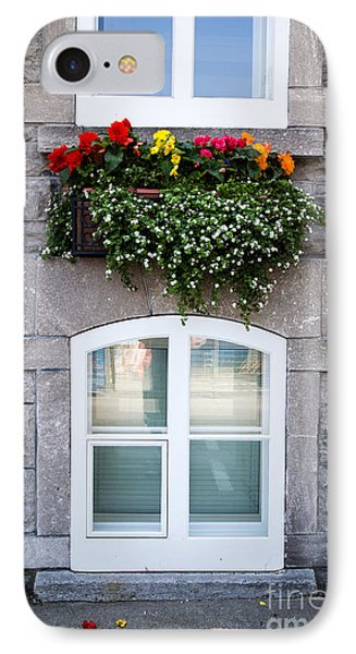 Flower Box Old Quebec City Phone Case by Edward Fielding