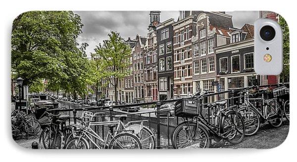 Amsterdam Flower Canal IPhone Case by Melanie Viola