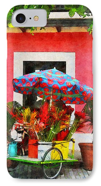 Flower Cart San Juan Puerto Rico Phone Case by Susan Savad