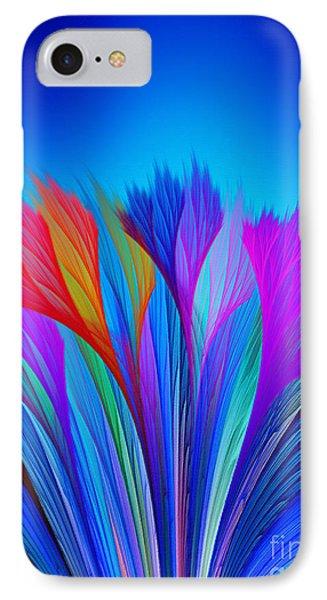 Flower Fantasy In Blue IPhone Case