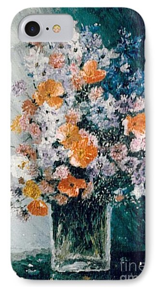 IPhone Case featuring the painting Flower Field by Sorin Apostolescu