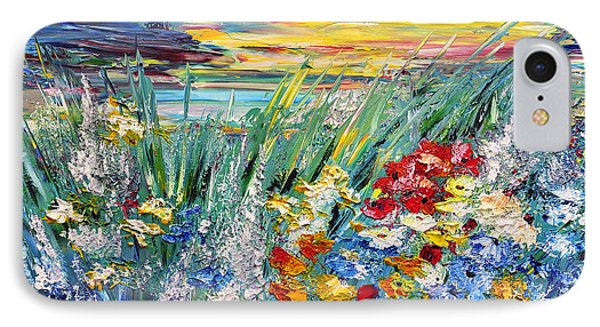 Flower Field IPhone Case by Teresa Wegrzyn