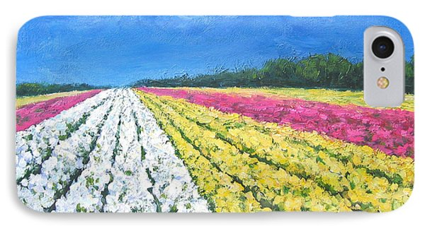 IPhone Case featuring the painting Flower Fields by Cheryl Del Toro