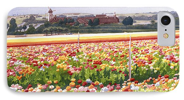 Flower Fields In Carlsbad 1992 IPhone Case by Mary Helmreich