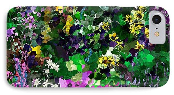 IPhone Case featuring the digital art Flower Garden by David Lane
