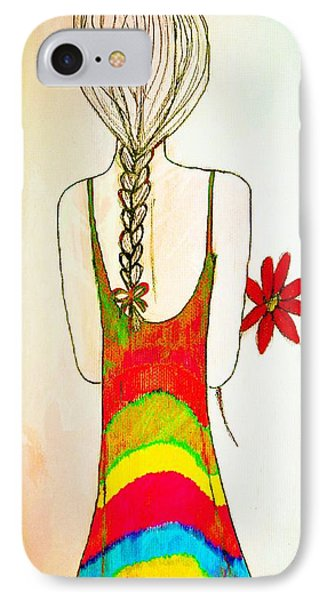 Flower Girl Phone Case by Anne Costello