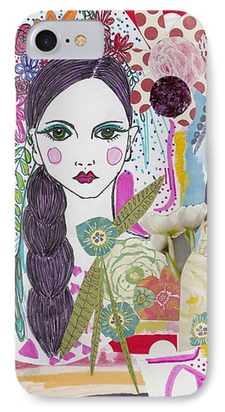 Flower Girl Collage IPhone Case by Rosalina Bojadschijew
