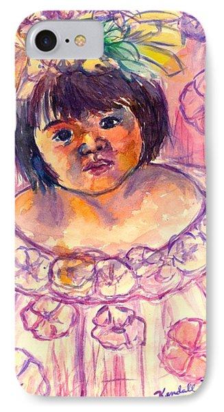 Flower Girl Phone Case by Kendall Kessler