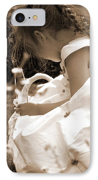 Flower Girls In Sepia Phone Case by Terri Waters