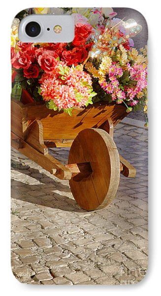 Flower Handcart IPhone Case by Carlos Caetano