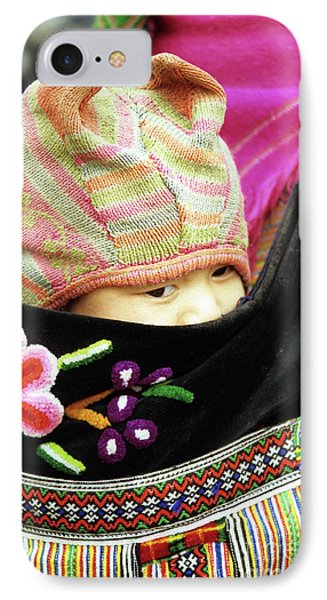 Flower Hmong Baby 02 Phone Case by Rick Piper Photography