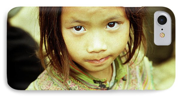 Flower Hmong Girl 02 Phone Case by Rick Piper Photography