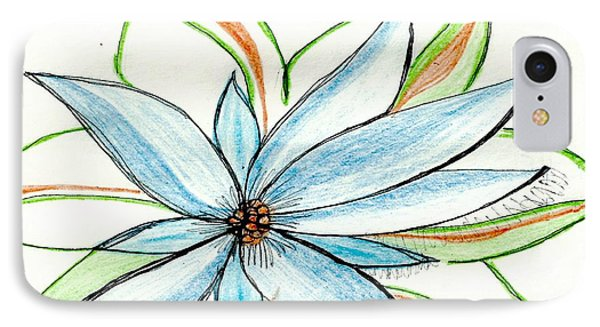 Flower In Blue IPhone Case