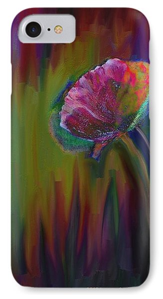 Flower In Flames IPhone Case by Lenore Senior