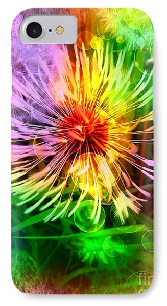 IPhone Case featuring the digital art Flower Light by Nico Bielow
