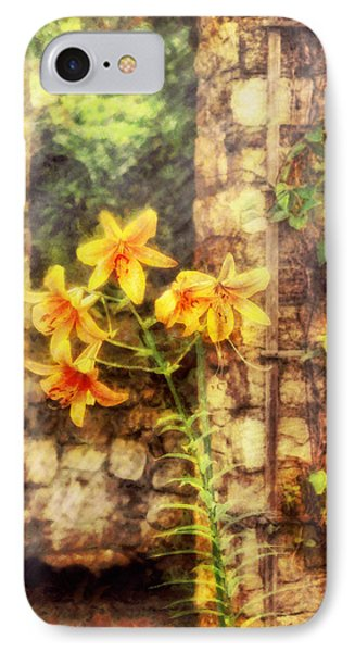Flower - Lily - Yellow Lily  Phone Case by Mike Savad