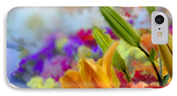 IPhone Case featuring the mixed media Flower Market 1 by Terence Morrissey